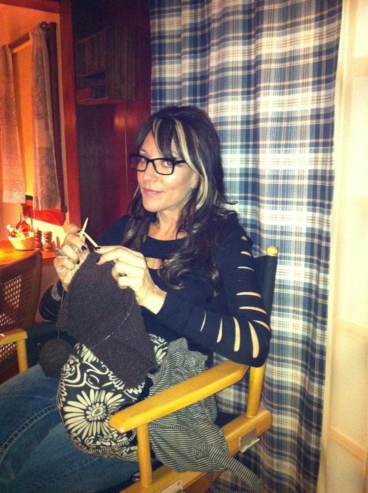 Katey Sagal On Set of SOA