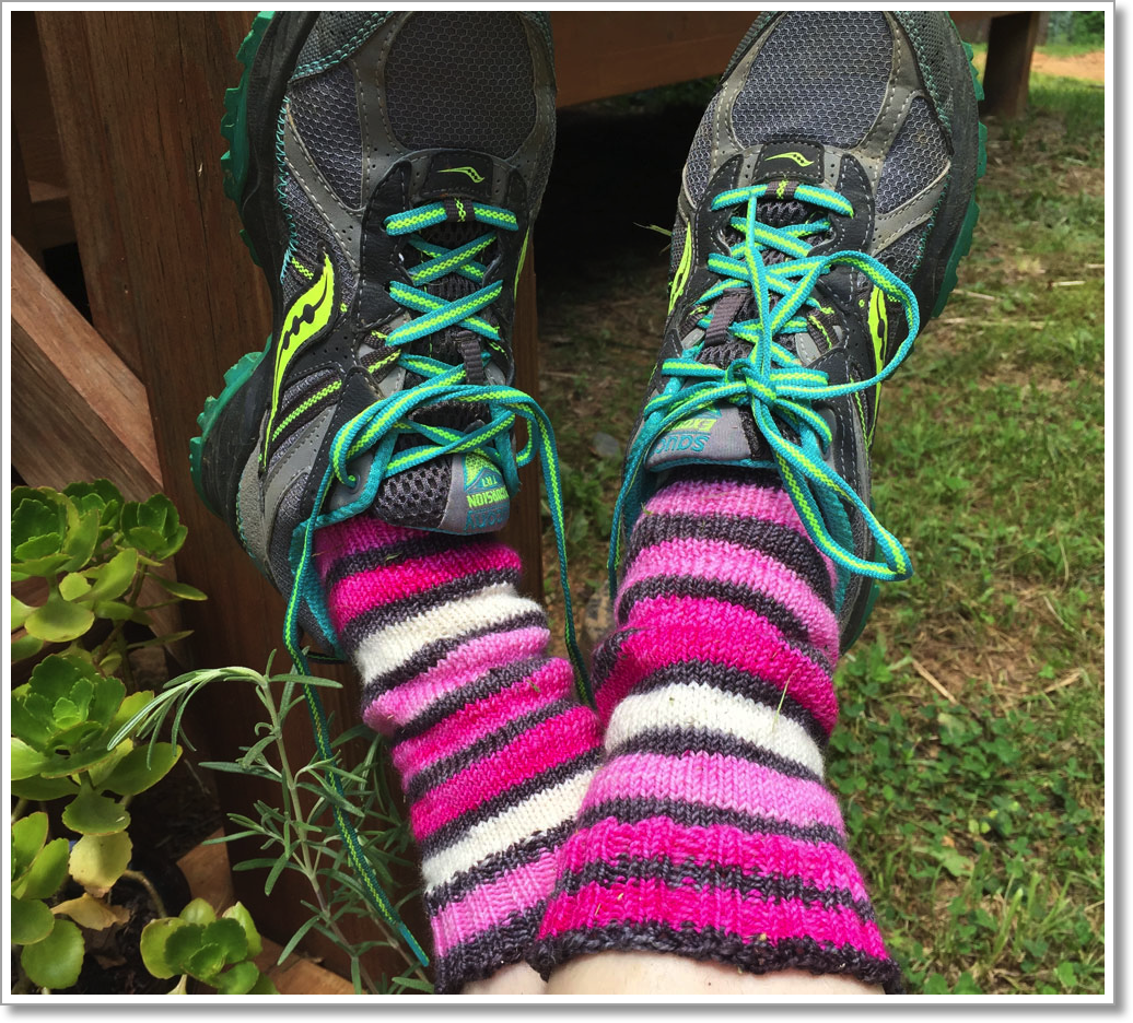 Pink Stripey Socks