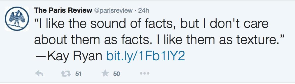 Paris Review Tweet