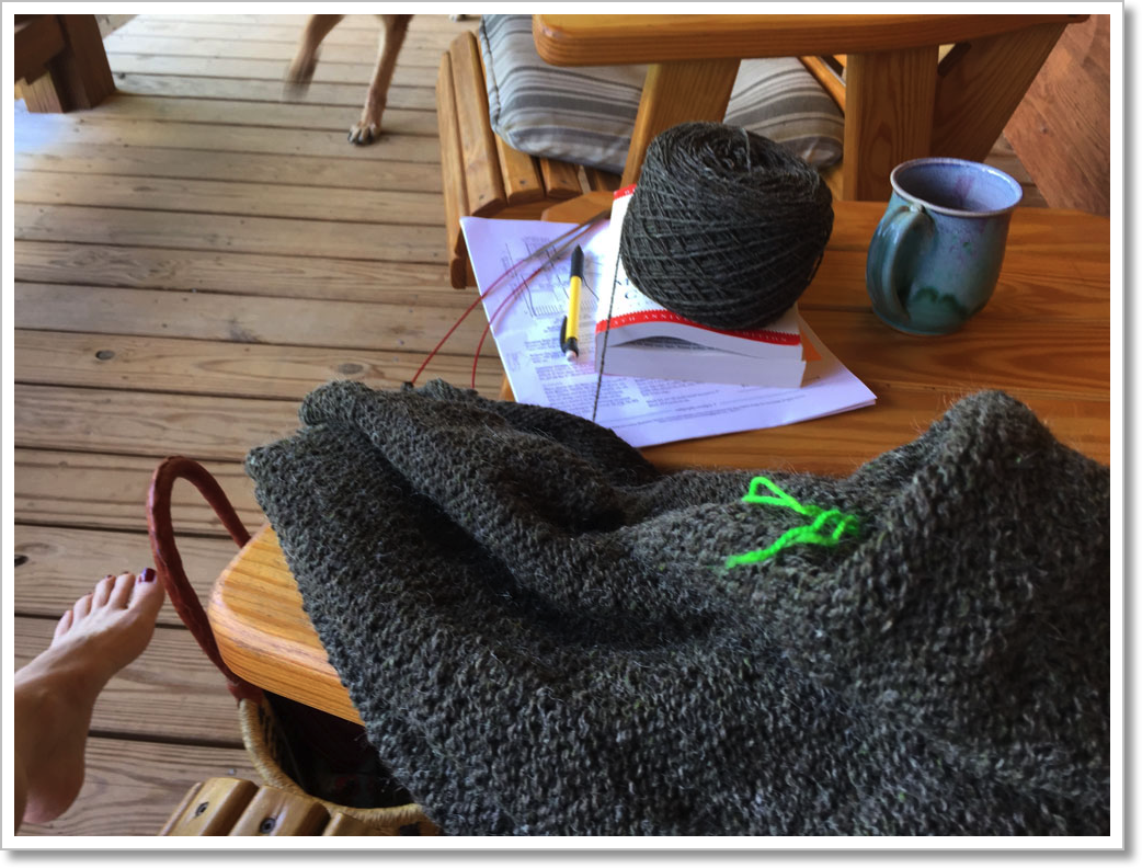 Porch Knitting 2