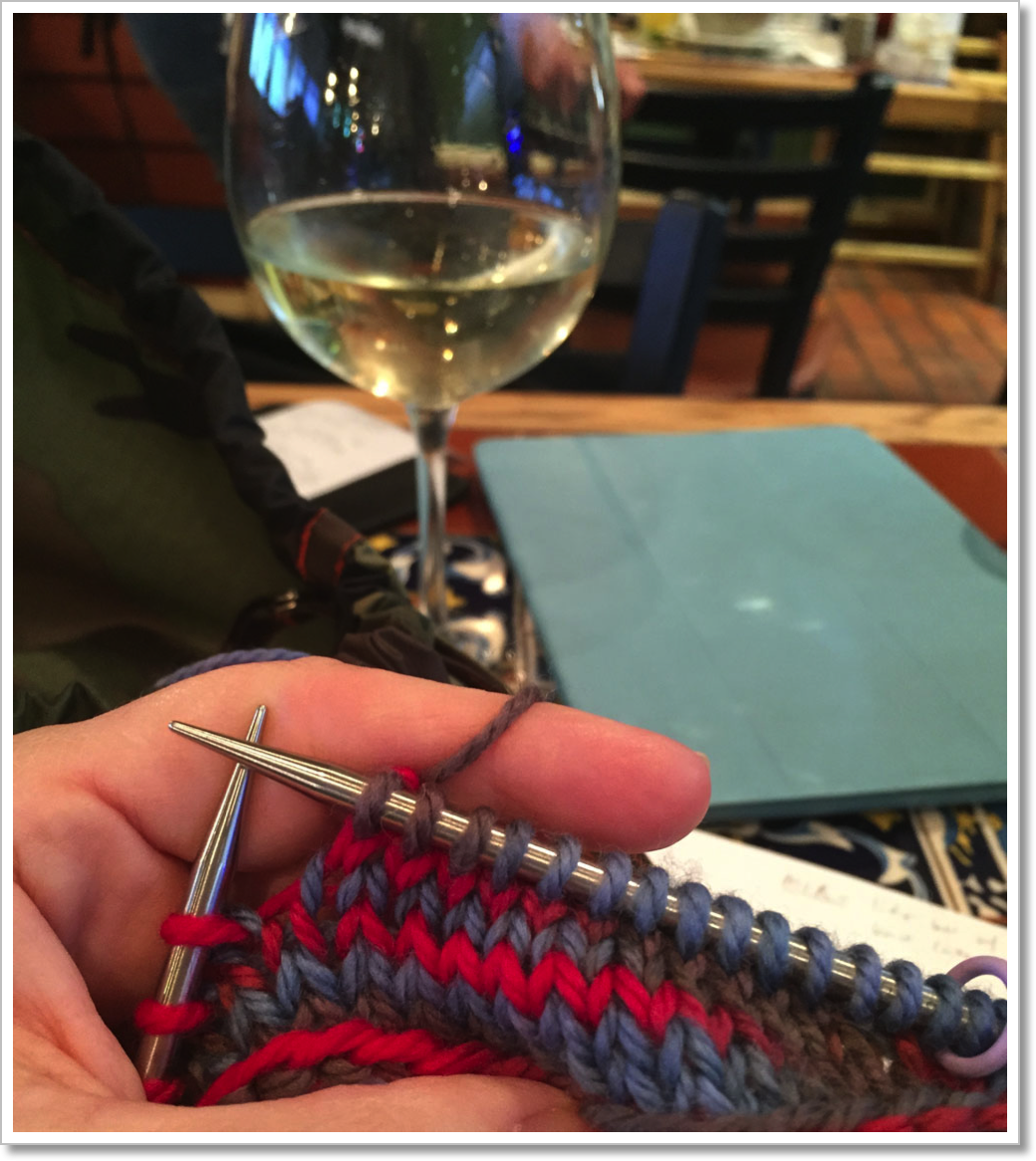 Layover knitting 1