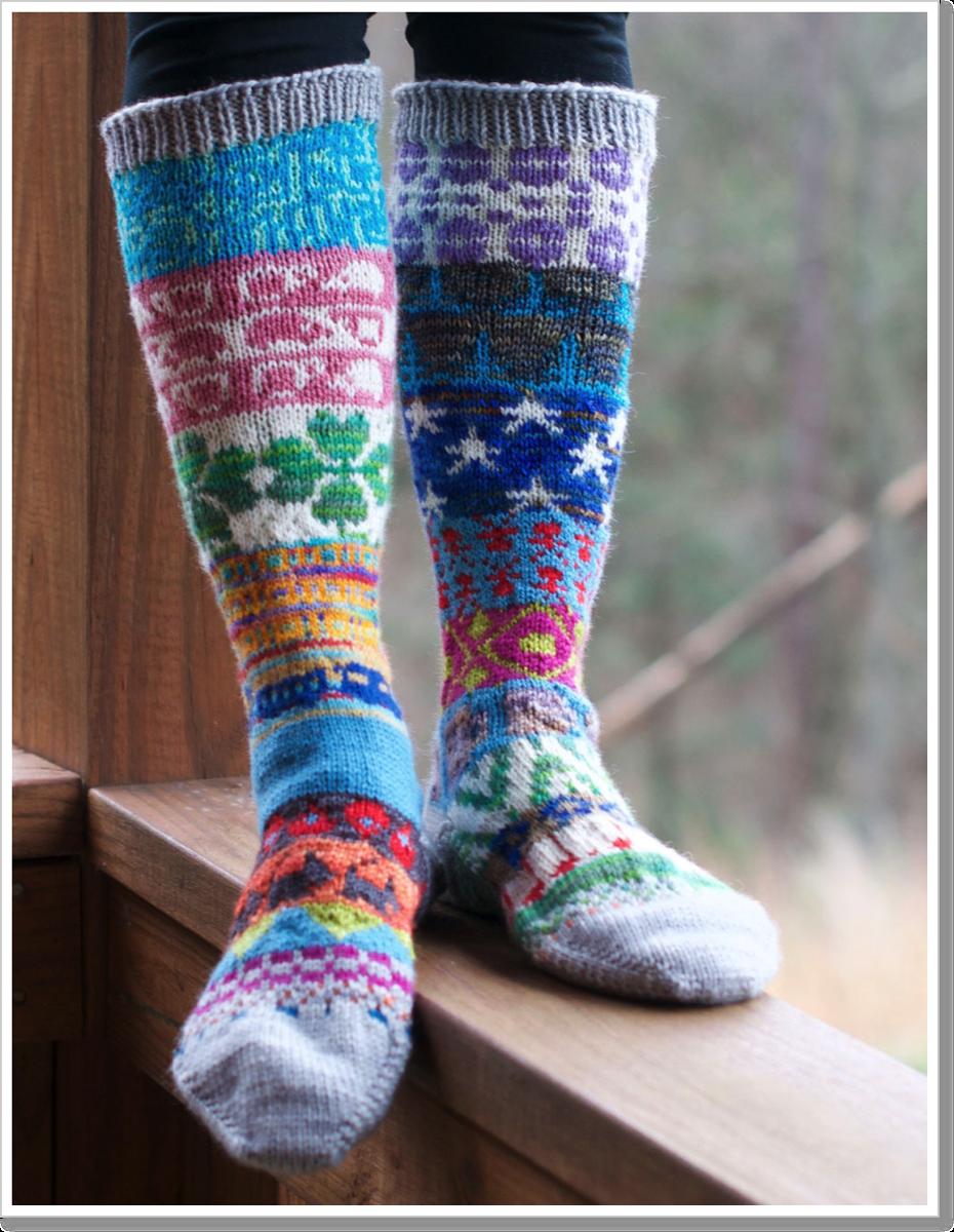 Scrap Yarn Socks 3