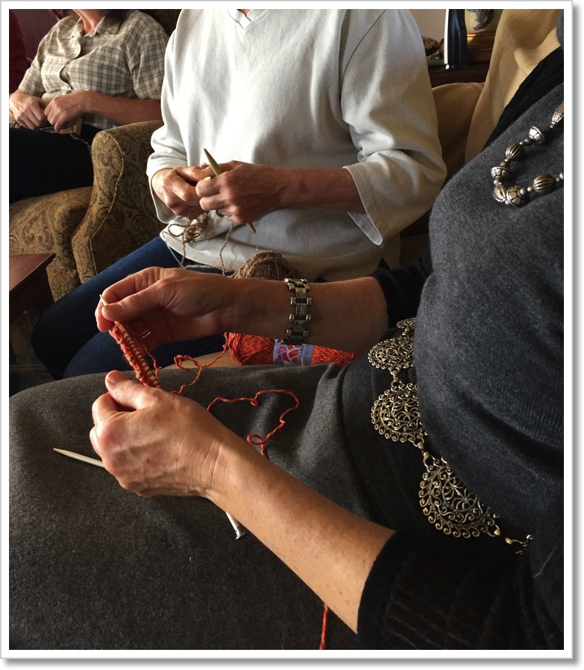 Learning to knit 1
